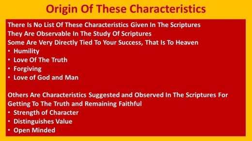 Characteristics for Heaven