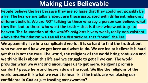 Making lies believable