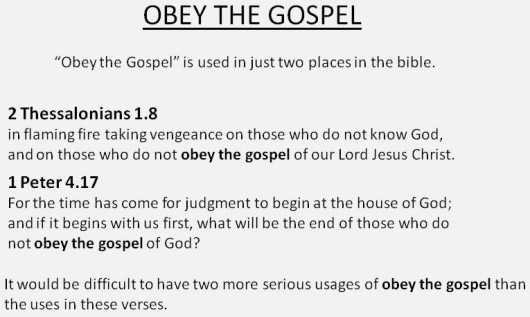 obey the gospelx
