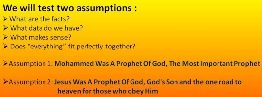 Assumptions Islam and Jesus